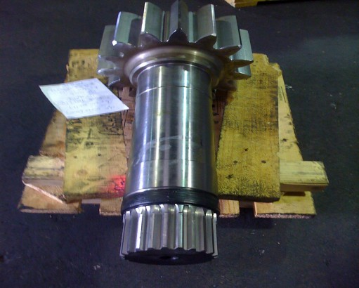 Spur/spline shaft combination